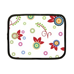 Colorful Floral Wallpaper Background Pattern Netbook Case (Small)