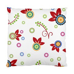 Colorful Floral Wallpaper Background Pattern Standard Cushion Case (one Side)