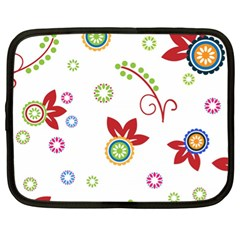 Colorful Floral Wallpaper Background Pattern Netbook Case (xl)
