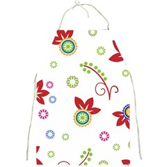 Colorful Floral Wallpaper Background Pattern Full Print Aprons