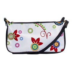 Colorful Floral Wallpaper Background Pattern Shoulder Clutch Bags