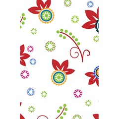 Colorful Floral Wallpaper Background Pattern 5 5  X 8 5  Notebooks