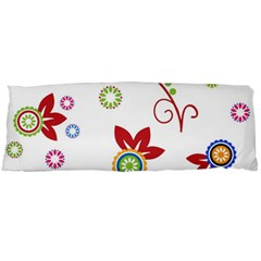 Colorful Floral Wallpaper Background Pattern Body Pillow Case Dakimakura (two Sides)
