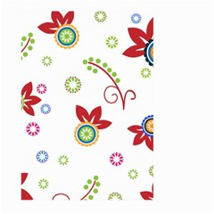 Colorful Floral Wallpaper Background Pattern Large Garden Flag (two Sides)