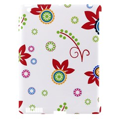 Colorful Floral Wallpaper Background Pattern Apple Ipad 3/4 Hardshell Case (compatible With Smart Cover)