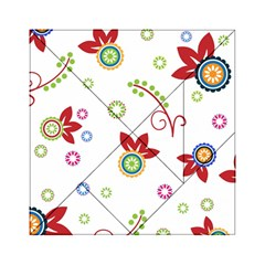 Colorful Floral Wallpaper Background Pattern Acrylic Tangram Puzzle (6  X 6 )