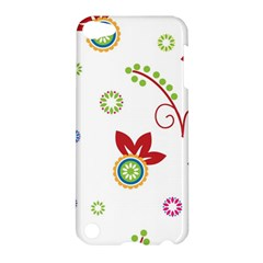 Colorful Floral Wallpaper Background Pattern Apple Ipod Touch 5 Hardshell Case