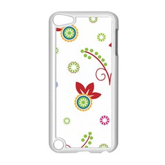 Colorful Floral Wallpaper Background Pattern Apple Ipod Touch 5 Case (white)