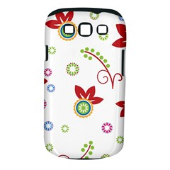 Colorful Floral Wallpaper Background Pattern Samsung Galaxy S Iii Classic Hardshell Case (pc+silicone)