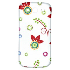 Colorful Floral Wallpaper Background Pattern Samsung Galaxy S3 S Iii Classic Hardshell Back Case