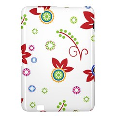 Colorful Floral Wallpaper Background Pattern Kindle Fire Hd 8 9