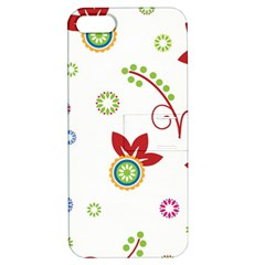 Colorful Floral Wallpaper Background Pattern Apple iPhone 5 Hardshell Case with Stand