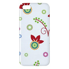 Colorful Floral Wallpaper Background Pattern Apple Iphone 5 Premium Hardshell Case