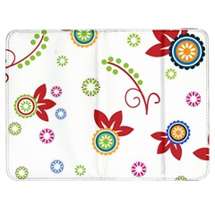 Colorful Floral Wallpaper Background Pattern Samsung Galaxy Tab 7  P1000 Flip Case