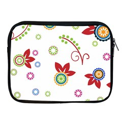 Colorful Floral Wallpaper Background Pattern Apple Ipad 2/3/4 Zipper Cases