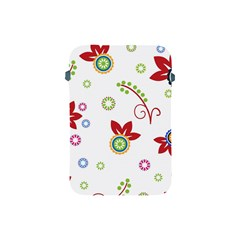 Colorful Floral Wallpaper Background Pattern Apple Ipad Mini Protective Soft Cases
