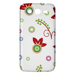 Colorful Floral Wallpaper Background Pattern Samsung Galaxy Mega 5.8 I9152 Hardshell Case