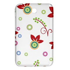 Colorful Floral Wallpaper Background Pattern Samsung Galaxy Tab 3 (7 ) P3200 Hardshell Case