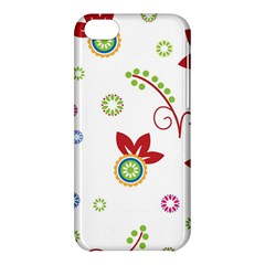 Colorful Floral Wallpaper Background Pattern Apple Iphone 5c Hardshell Case