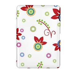 Colorful Floral Wallpaper Background Pattern Samsung Galaxy Tab 2 (10 1 ) P5100 Hardshell Case