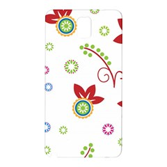 Colorful Floral Wallpaper Background Pattern Samsung Galaxy Note 3 N9005 Hardshell Back Case
