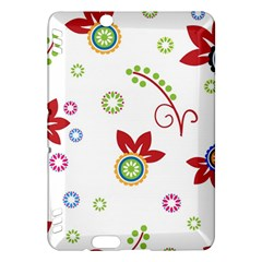 Colorful Floral Wallpaper Background Pattern Kindle Fire Hdx Hardshell Case