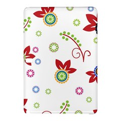 Colorful Floral Wallpaper Background Pattern Samsung Galaxy Tab Pro 10 1 Hardshell Case