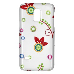 Colorful Floral Wallpaper Background Pattern Galaxy S5 Mini