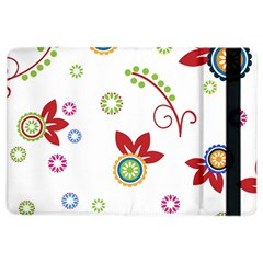 Colorful Floral Wallpaper Background Pattern Ipad Air 2 Flip