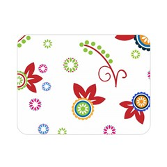Colorful Floral Wallpaper Background Pattern Double Sided Flano Blanket (mini)