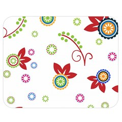Colorful Floral Wallpaper Background Pattern Double Sided Flano Blanket (medium)