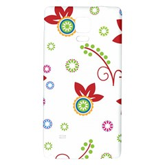Colorful Floral Wallpaper Background Pattern Galaxy Note 4 Back Case