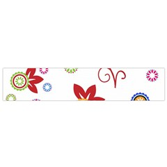 Colorful Floral Wallpaper Background Pattern Flano Scarf (small)