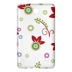 Colorful Floral Wallpaper Background Pattern Samsung Galaxy Tab 4 (8 ) Hardshell Case