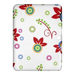 Colorful Floral Wallpaper Background Pattern Samsung Galaxy Tab 4 (10 1 ) Hardshell Case