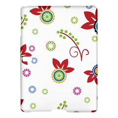 Colorful Floral Wallpaper Background Pattern Samsung Galaxy Tab S (10 5 ) Hardshell Case