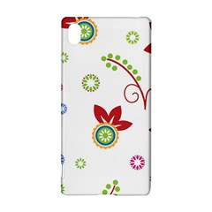 Colorful Floral Wallpaper Background Pattern Sony Xperia Z3+