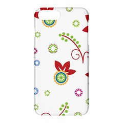 Colorful Floral Wallpaper Background Pattern Apple Iphone 7 Plus Hardshell Case