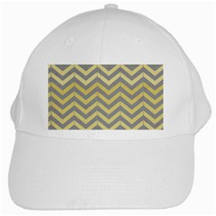 Abstract Vintage Lines White Cap