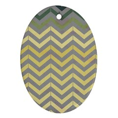 Abstract Vintage Lines Ornament (oval)