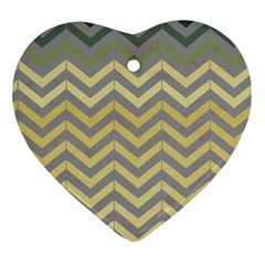 Abstract Vintage Lines Ornament (heart)
