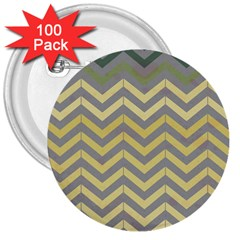 Abstract Vintage Lines 3  Buttons (100 Pack)