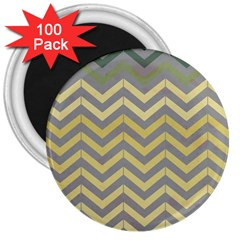 Abstract Vintage Lines 3  Magnets (100 Pack)