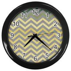 Abstract Vintage Lines Wall Clocks (black)