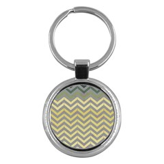 Abstract Vintage Lines Key Chains (round)