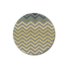 Abstract Vintage Lines Rubber Round Coaster (4 Pack)