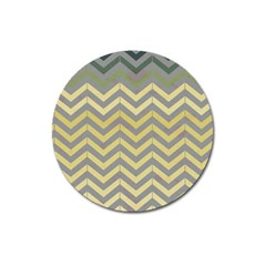 Abstract Vintage Lines Magnet 3  (round)