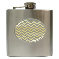 Abstract Vintage Lines Hip Flask (6 oz)
