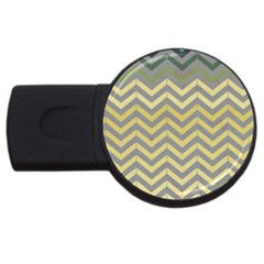 Abstract Vintage Lines USB Flash Drive Round (1 GB)
