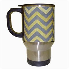 Abstract Vintage Lines Travel Mugs (white)